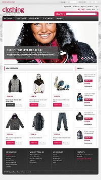 шаблон интернет магазина одежды