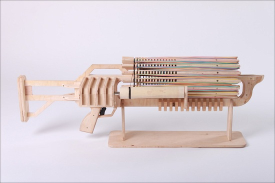 автомат, стреляющий резинками