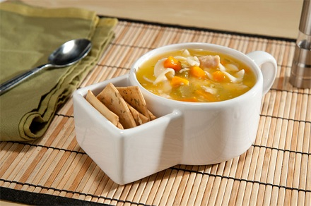 чашка для супа с карманом