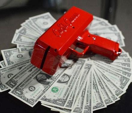 денежный пистолет