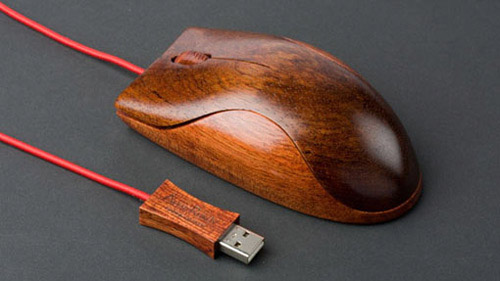 деревянная мышка