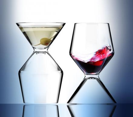 двойной бокал для вина