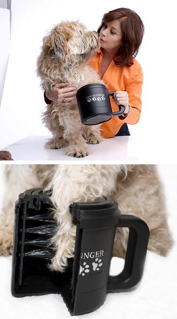 гаджет для мытья лап собаки