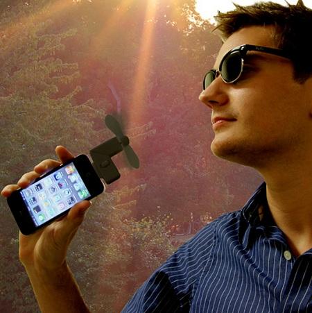 гаджет вентилятор для смартфона