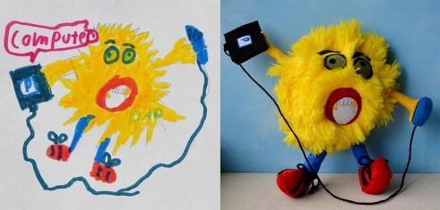 игрушка по рисунку ребенка