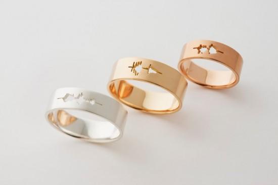кольца с необычным вырезом