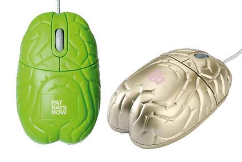 компьютерная мышка в виде мозга