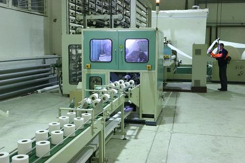 конвеерная линия по производству туалетной бумаги