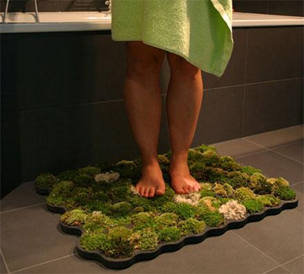 коврик для ванной с имитацией травы