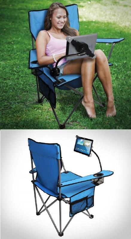 кресло с подставкой для планшета