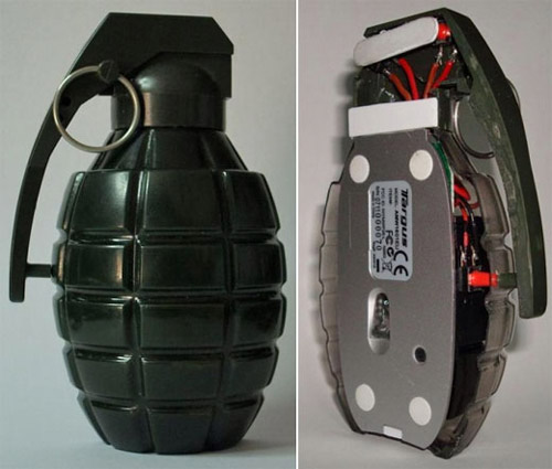 мышь в форме гранаты