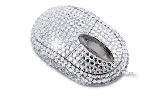 мышка с диамантами