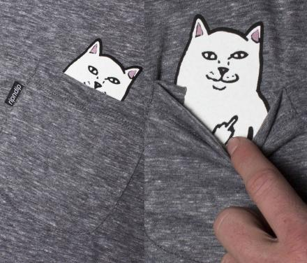необычная футболка с котиком