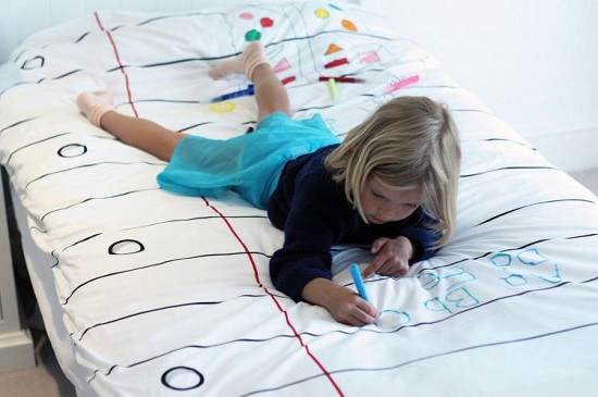 одеяло-раскраска