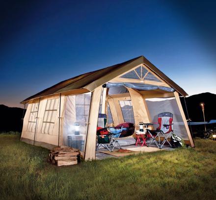 огромная палатка-дом