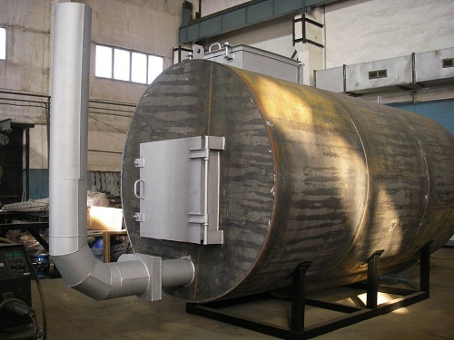 печь для производства древесного угля