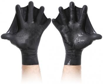 перчатки для плавания с перепонками