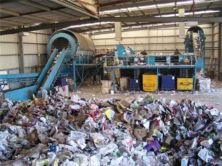 помещение для переработки мусора