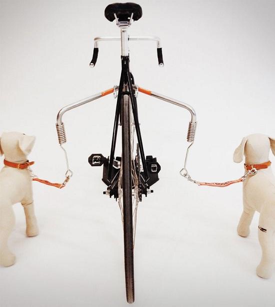 поводок для собаки на велосипед