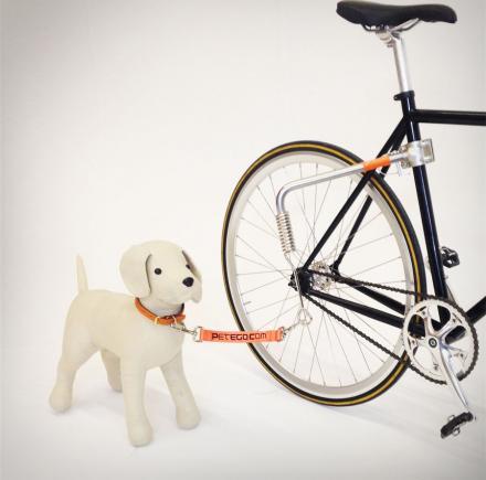 поводок на велосипед для собаки