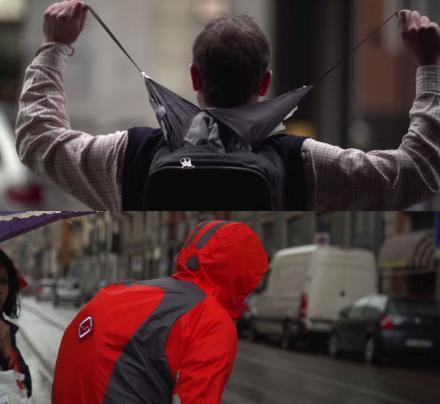 рюкзак, который превращается в дождевик