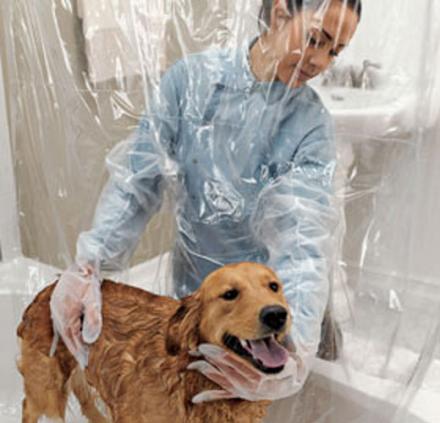шторка для мытья собаки