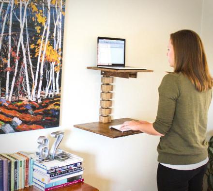 стол на стену для ноутбука