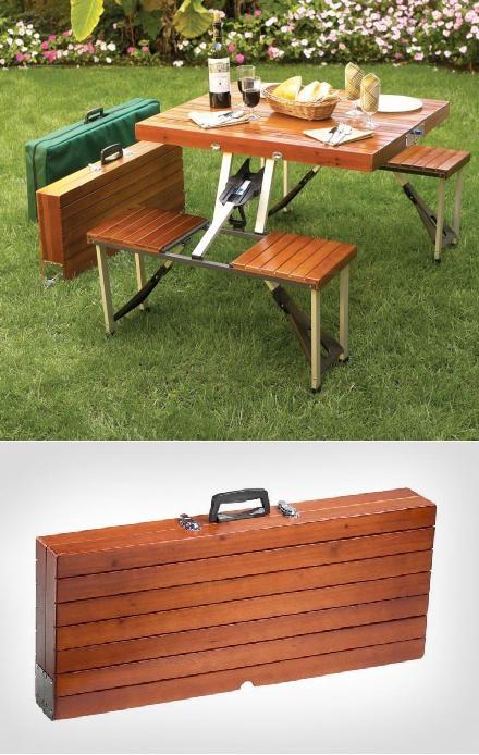столик для дачи раскладной