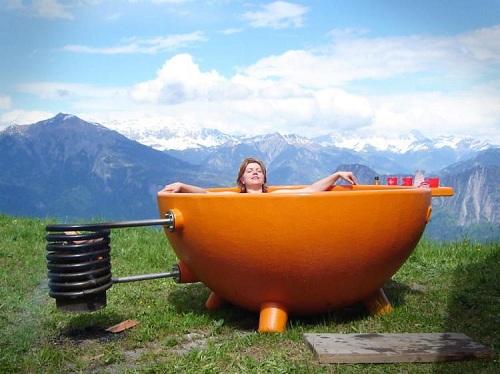 ванна на дровах для дачи