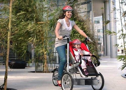 велосипед для мамы и ребенка