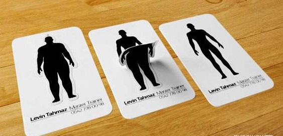 визитка фитнес тренера