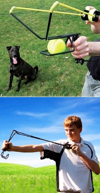 рогатка для игры с собакой