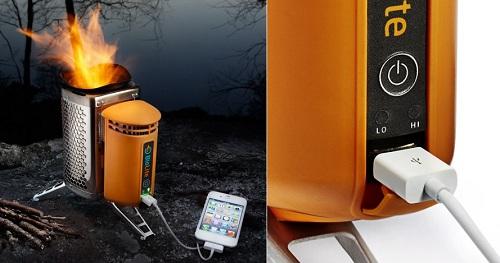 зарядка на дровах для телефона